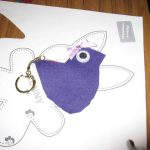 Children's sewing club bird key ring