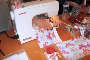 A group of stitchers gathered together who love to sew!