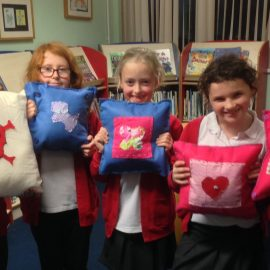 Phew finished our cushions!